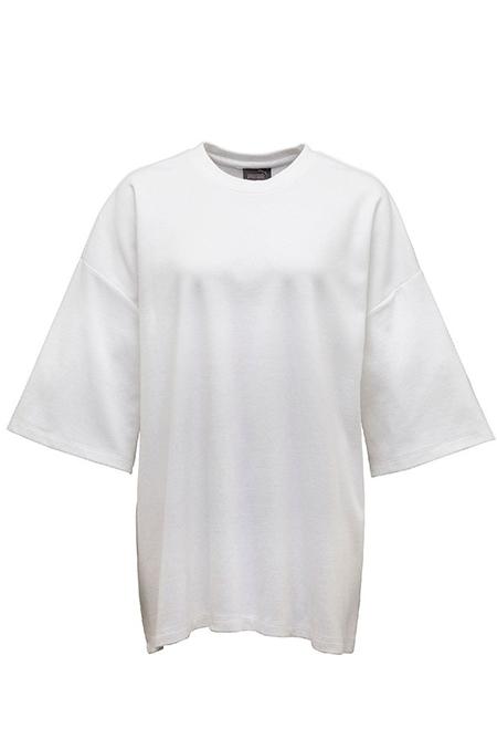 PUMA X RIHANNA WOMEN'S OVERSIZED CREW NECK T-SHIRT - WHITE