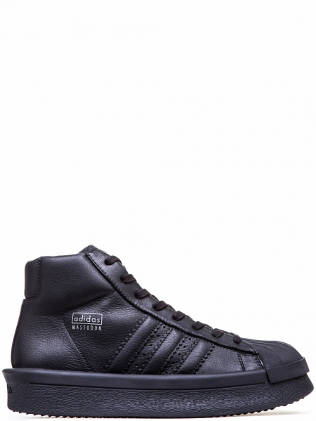 RICK OWENS x ADIDAS MEN'S BLACK PRO MODEL SNEAKERS F/W 16