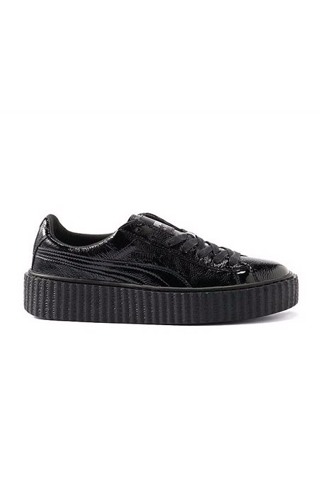 WOMEN'S PUMA BY RIHANNA CREEPER shiny black
