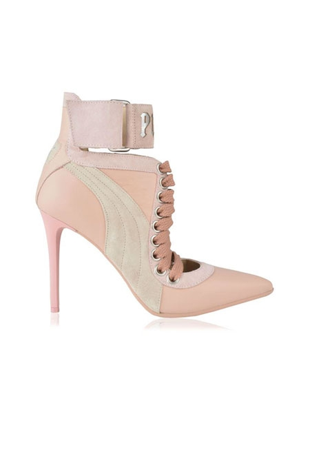 FENTY PUMA BY RIHANNA LACE UP HEELS - Pink
