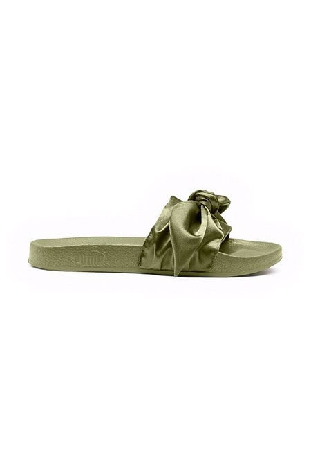 FENTY PUMA BY RIHANNA  - BOW WOMEN'S SLIDE SANDALS GREEN