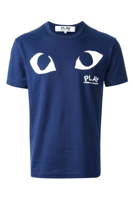 COMME DES GARÇONS PLAY  eye print T-shirt