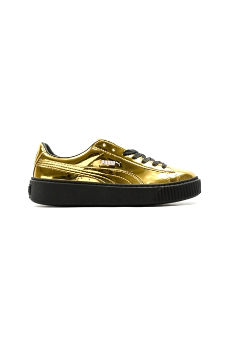PUMA BASKET PLATFORM METALLIC GOLD
