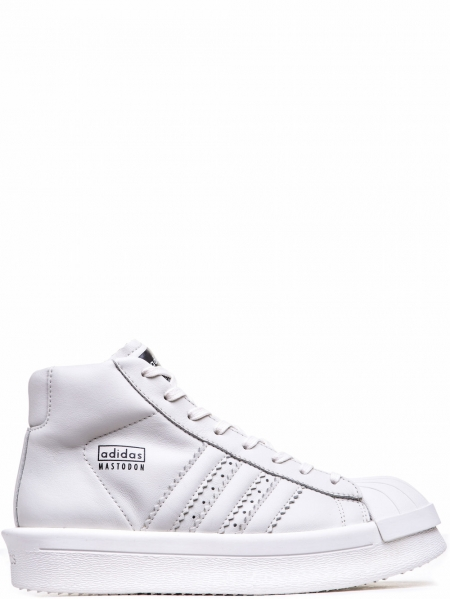 RICK OWENS x ADIDAS MEN'S WHITE PRO MODEL SNEAKERS F/W 16