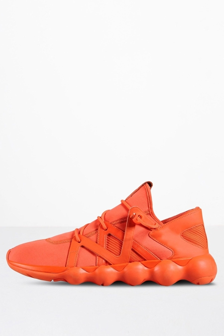 Y-3 MEN'S ORANGE KYUJO SNEAKERS F/W 16