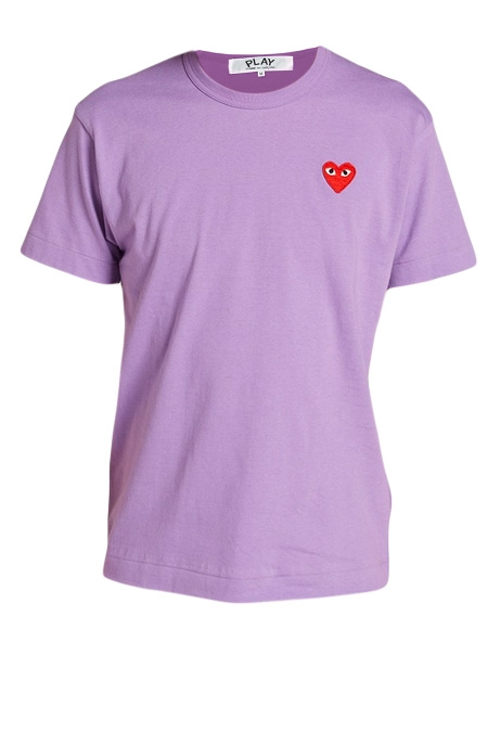 COMME DES GARCONS PLAY COLOUR SERIES LOGO TEE