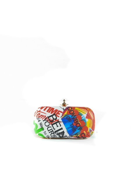Meaningless Print Multicolor Clutch