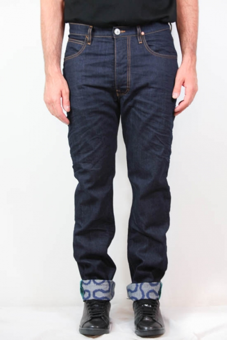 ASYMMETRIC BLUE DENIM JEANS