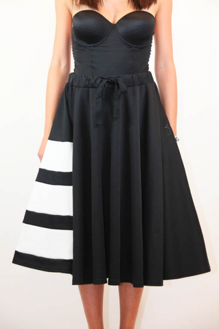 Y-3 BOLD STRIPE SKIRT