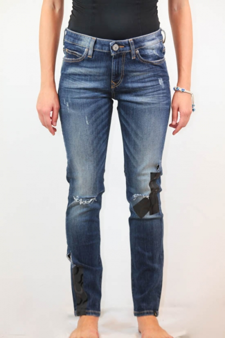BLUE DENIM AR SKINNY JEANS