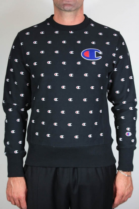 Champion Fleece Lined All Over Crew Sweatshirt