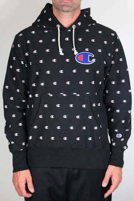 Champion Fleece Lined All Over Crew Hoodie